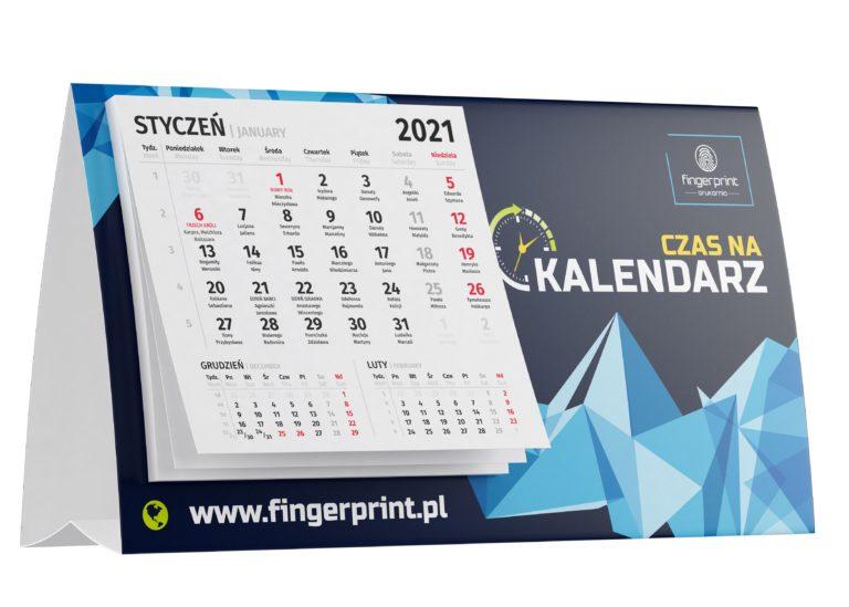 Kalendarz biurkowy z małym kalendarium