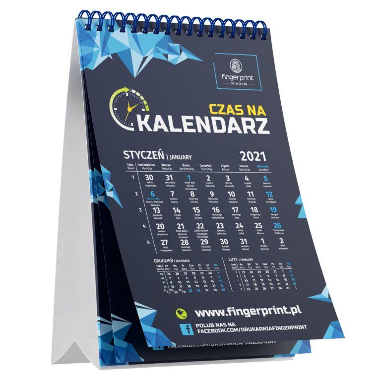 Pionowy kalendarz biurkowy wielostronicowy