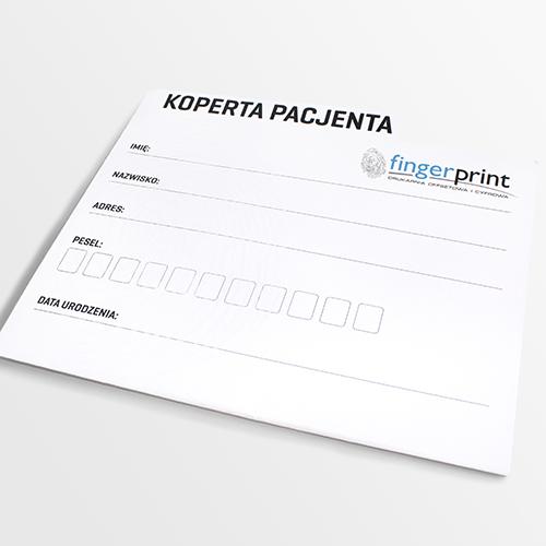 koperty medyczne druk