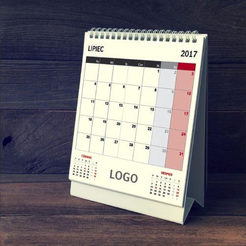 kalendarz reklamowy z nadrukiem na biurko