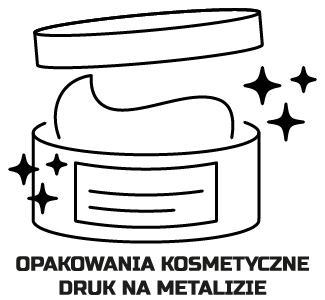 Druk na metalizie, opakowania na kosmetyki, kosmetyczne, metalizowane | fingerprint.pl